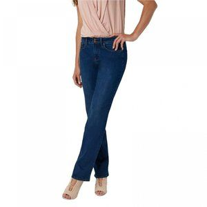 NWT NYDJ Marilyn Jeans 28W EXTRA LONG Cooper Blue